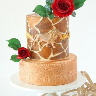Safari Themed Cake - Cake by Cookie Hound!