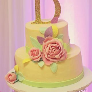 Dana's Baptism Cake - Cake by J&A Sweets