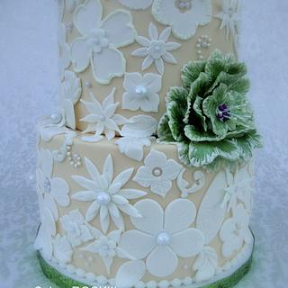 Lace Wedding Cake - Cake by Cakes ROCK!!!