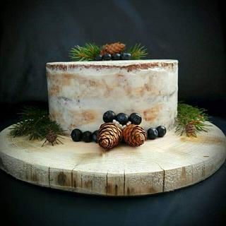 Forest fruit cake