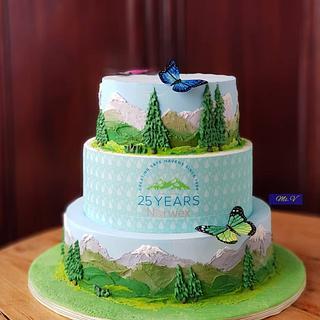 Compony Anniversary Cake