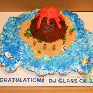 Volcano Cupcake cake