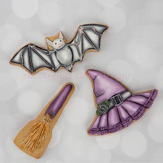 Decorated Dimensional Vintage Halloween Cookies 🍬🦇💀