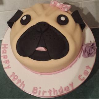 Pug cake xx