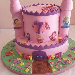 Princess castle - Cake by Lamees Patel