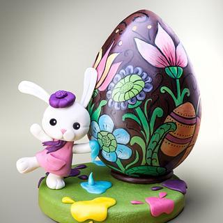 La coniglietta pasquale e il suo grande uovo!