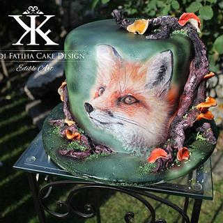 Handpainted fox