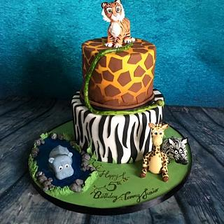 Down in the jungle - cake - Cake by Maria-Louise Cakes