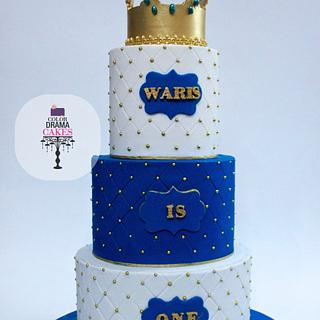 Prince crown themed cake,cookies and cake pops
