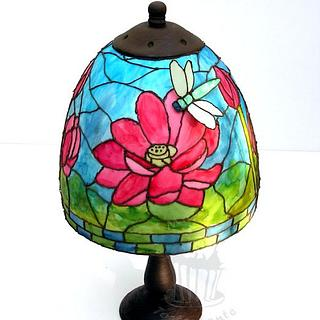 Stained glass lamp - Cake by Monika