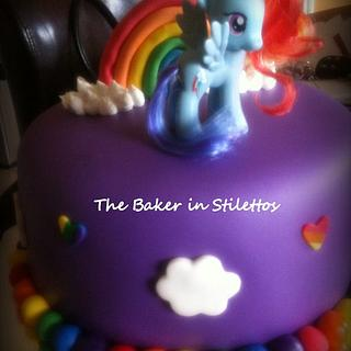 My Little Pony Rainbow Cake - Cake by Jeanette Rodriguez