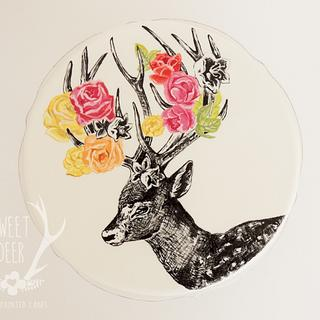 Stag & Roses