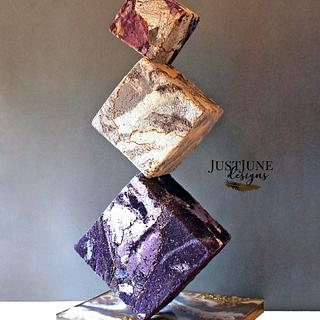 Gravity Defying Cube Cake