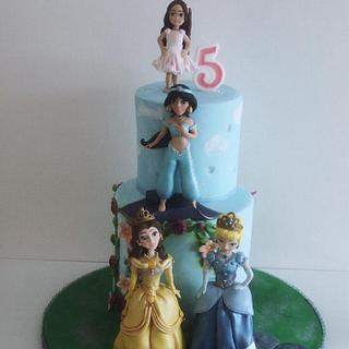 jasi's 5th birthday princess cake