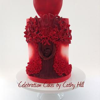 UNSA Be Team Red Collaboration - Tree Of Hope - World AIDS Day 2015 - Cake by Celebration Cakes by Cathy Hill