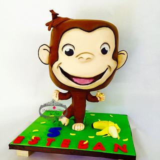 Curious George bobblehead Cake - Cake by Delight for your Palate by Suri