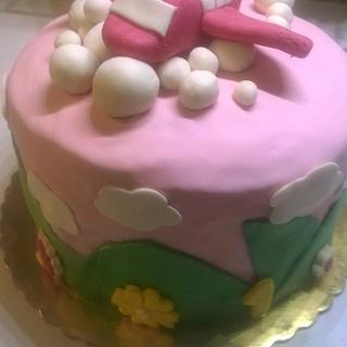 airplane birthday cake for girls