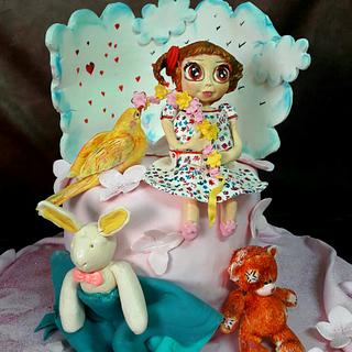 Little girl cake