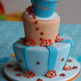 Apricot team time cake