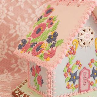Folk Flowers Sugar House - Cake by Vintique Cakes (Anita)