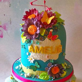 A Flamingo for Amelie's  Birthday - Cake by Lynette Horner