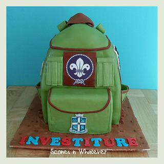 Scout Backpack Cake