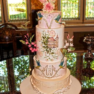 Delicate wedding cake - Cake by Diana Toma