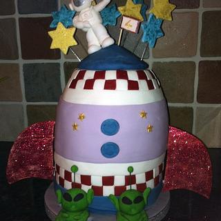 Space Rocket Cake - Cake by salco