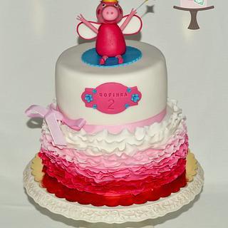Peppa Pig Ruffle Cake - Cake by Martina