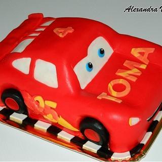 Lightning Mcqueen cake - Cake by alexandravasile
