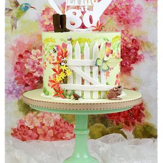 80th birthday cake  - Cake by Julie