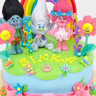 Poppy Troll cake  / tort trolle poppy