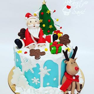 Christmas birthday cake!🎄 - Cake by Ana