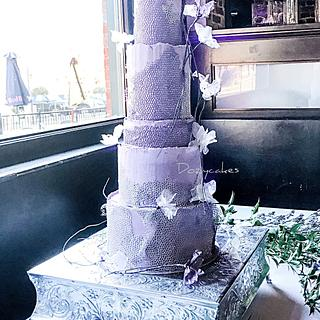 Rock House Wedding Cake