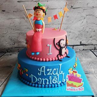 Frida Kahlo cake - Cake by Liliana Vega