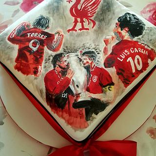 Hand painted Liverpool Football Club cake