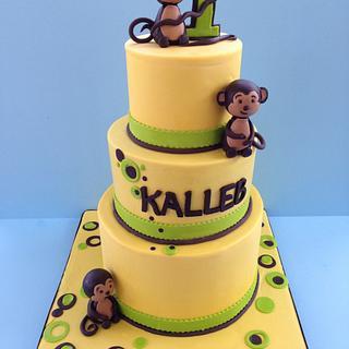 Monkey theme cake
