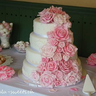 Vintage Wedding Cake - Cake by Lealu-Sweets