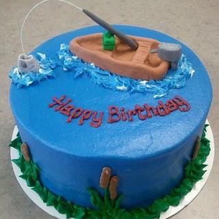 Gone Fishin' - Cake by Kim Dickerson