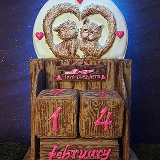 Gingerbread Calendar for Valentine's day