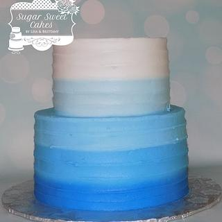 Blue Ombre - Cake by Sugar Sweet Cakes
