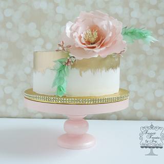 Simply Elegant - Cake by Joy Thompson at Sweet Treats by Joy