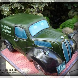 Ford Popular Van Cake - Cake by Mother and Me Creative Cakes