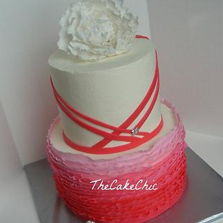 Ombre Engagement Cake