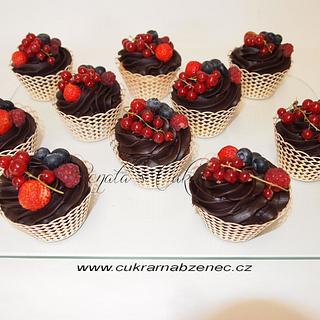 Ganache muffins