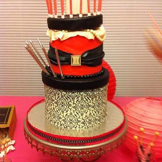 Pink & Black cake boxes