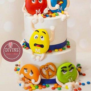 M&M's  - Cake by Nelly S.Kamal