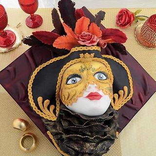 Bolo, Mascara de Carnaval de Veneza/ Carnival masks made of cake
