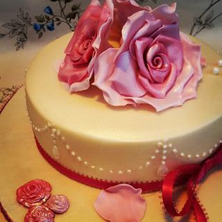 Tea Rose Cake