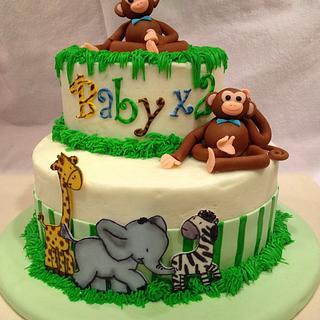 Safari Monkey Cake